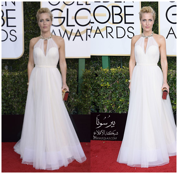 Gillian Anderson In Jenny Packham